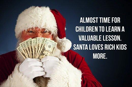 Santa Loves Me. . TIME M CHILDREN Til LEARN It UNLIKABLE l. ,. Psst. kids. winter sales are comming. ho ho ho