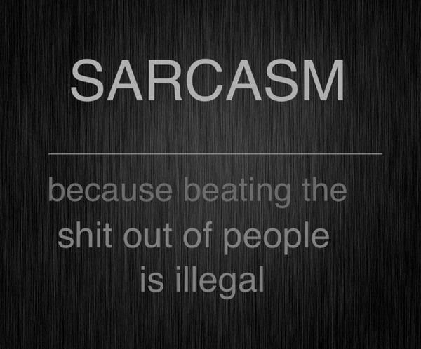 sarcasm. .