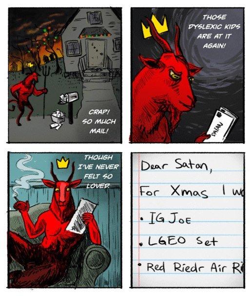 satan. i love you satan. THOSE sist ARE AT IT ERIN' Jita lall ' Satan Santa