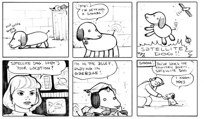 Satellite Dog. Saved the day.. igusta E