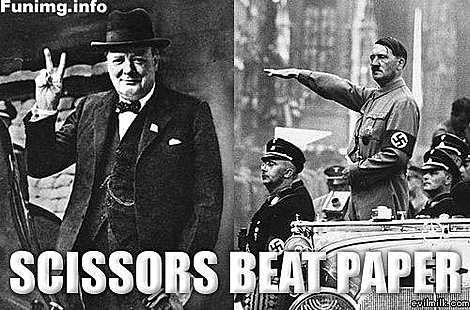 scissors beat paper.. scissors beat paper.. jews rock.......