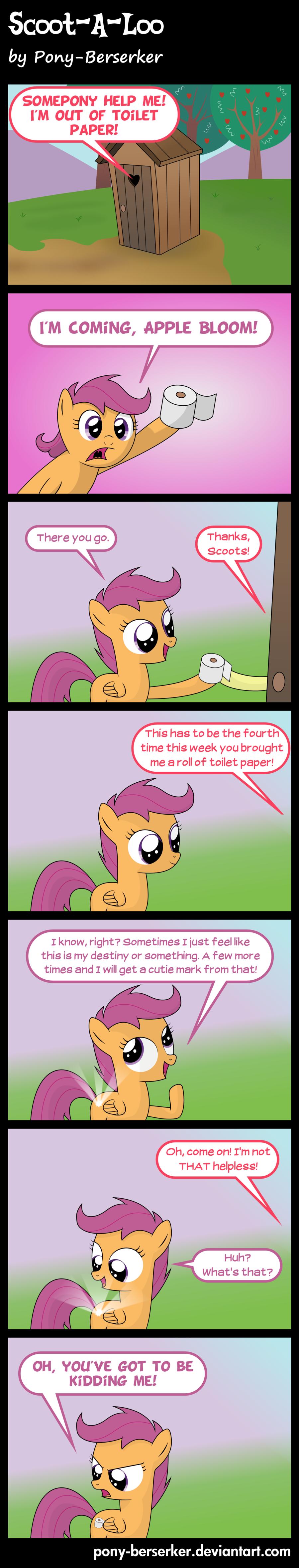 Scoot-A-Loo by ~Pony-Berserker. .