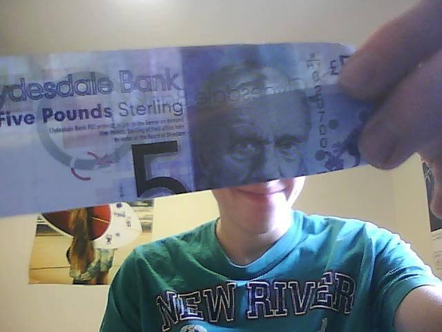 scottish money is funny. .