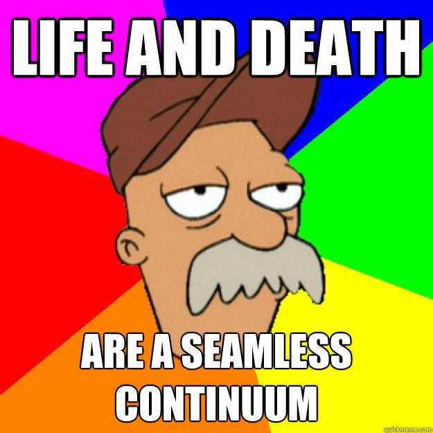 scruffy. words of wisdom. ME MI] DEATH