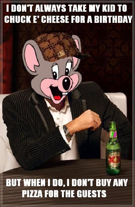 Scumbag Chuck. The pizza was a lie!.