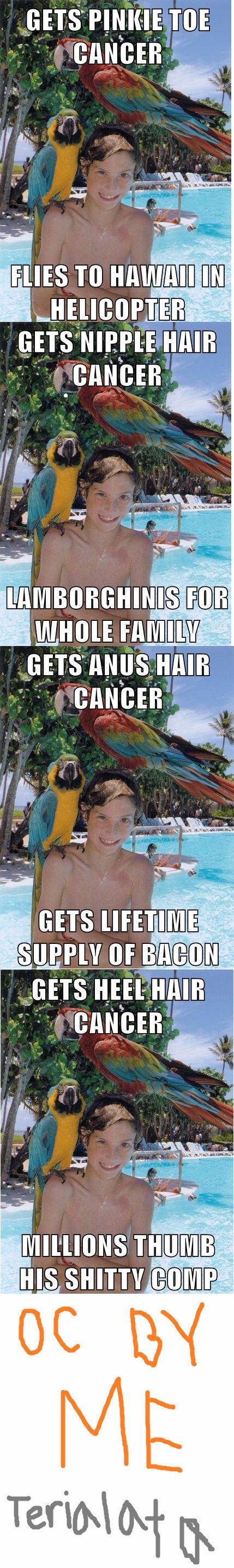 Scumbag Cancer Patient. Make a wish..Y U NO give me Lamborghini?!.