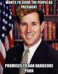 "Scumbag Santorum. No more section if this cracka gets into office . t In sinus m Ipsum """