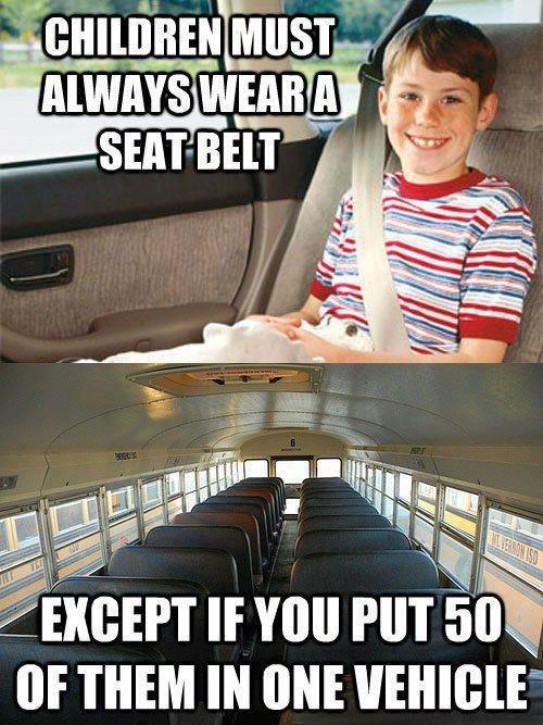 Seatbelts. .