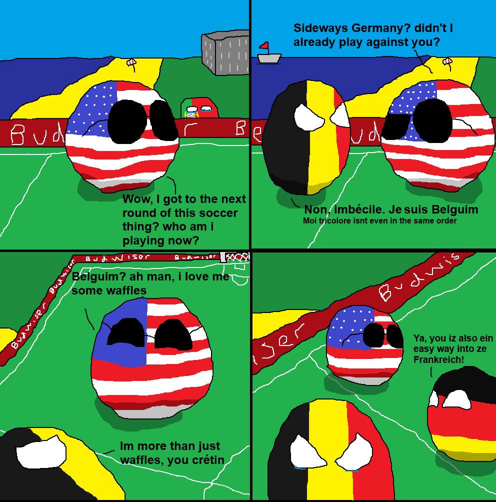 Second Round Antics: Belgium Vs USA. Source: OC Subscribe for more The Belgian national football team (Dutch: Belgisch voetbalelftal;[C] French: Équipe belge de