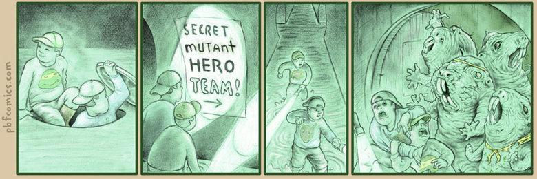 Secret Mutant Hero Team. .