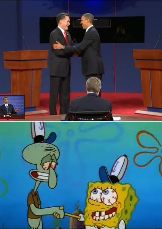 Seems Familiar. . bugkiller spongebob obama romney