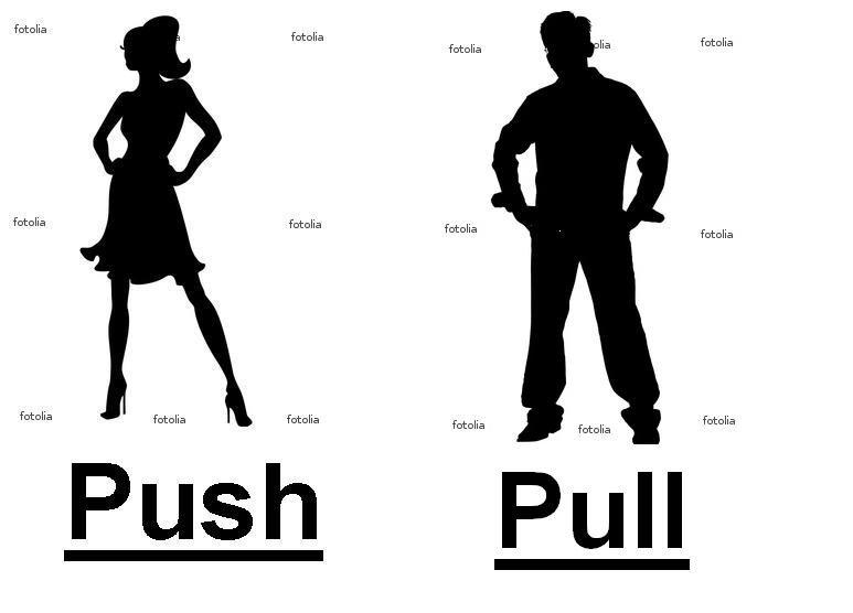 sex for dummies. .. Girl---you push it in Boy---You pull on it sex for dummies push pull