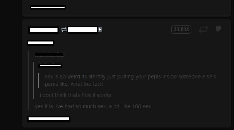 Sex. .. ive had 100 sex