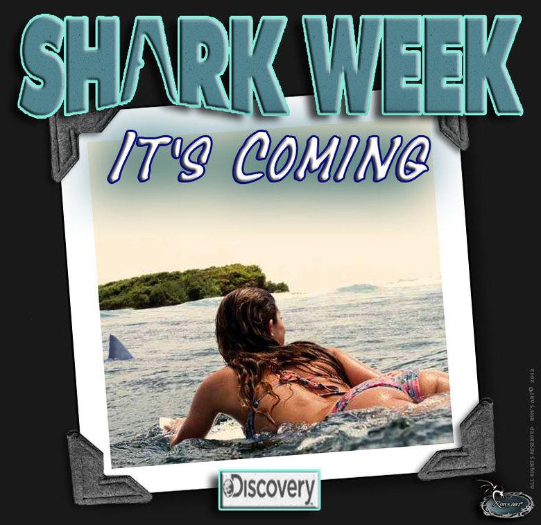 SHARK WEEK. Me too....lol. Shark surfing gal ronsart RONSGRAPHICS funny FUNNYJUNK