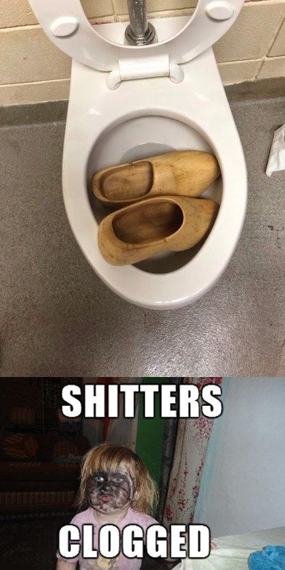 Shitters Clogged. OC.. original pic yw