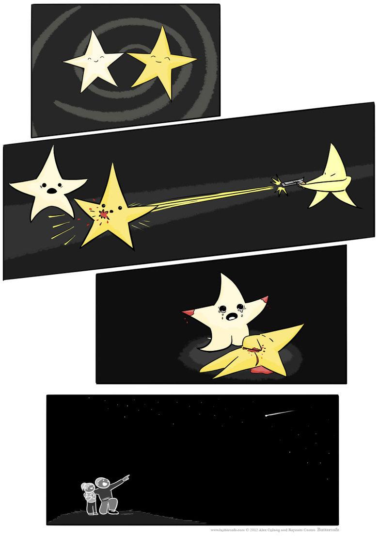 shooting stars. .