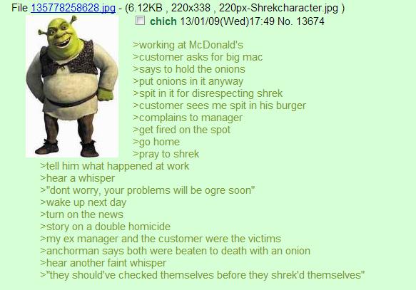 Shrek Episode III: Revenge of the Onion. -192% OC.