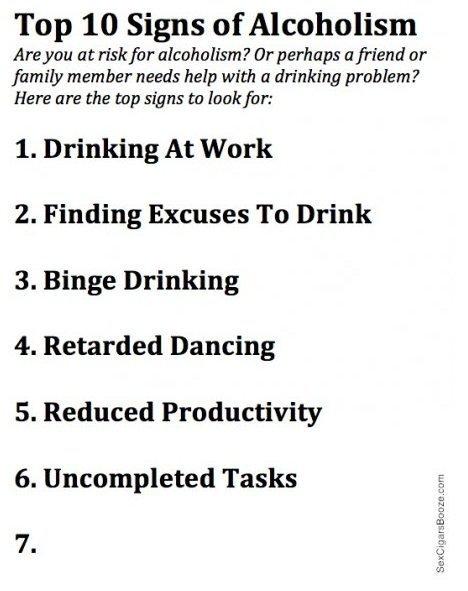 alcohol addiction warning signs