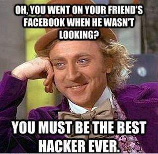 Simply the best hacker. . WHEN HE llil,