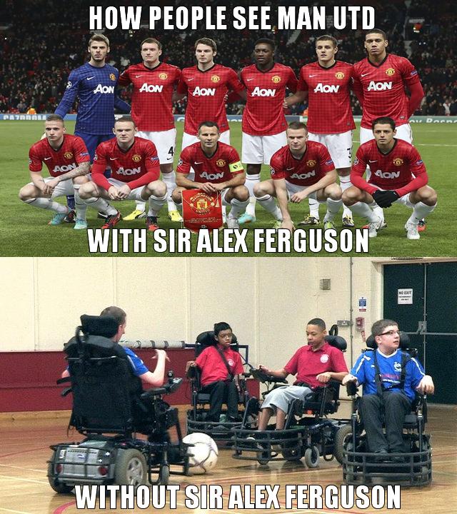 Sir Alex Ferguson retires.. Sir Alex Ferguson recently annouced his retirement as manager of the english football (not soccer) club, Man UTD.