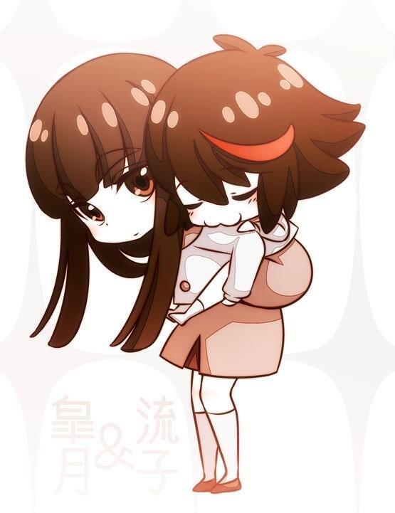 Sistery love. Source is Kill la Kill. Satsuki ryuuko Kill la incest