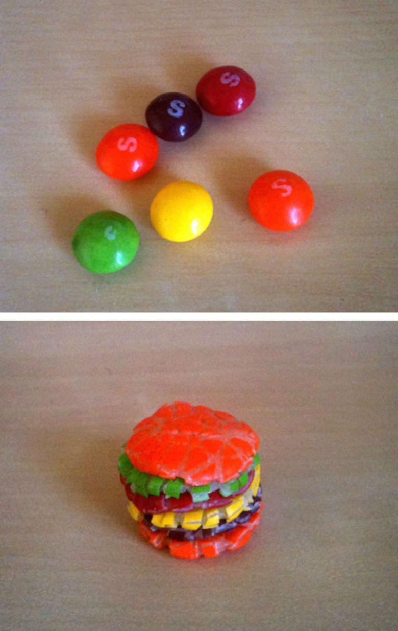 Skittles Burger. .. taste the rainbow