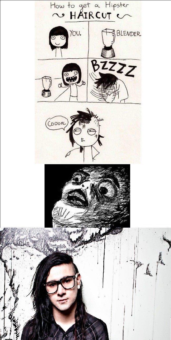 Skrillex. Blender comic isn't mine. The rest is OC.