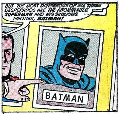 Skulking Batman. it makes me laugh. i don't know why. but it makes me laugh.. the goddamn batman
