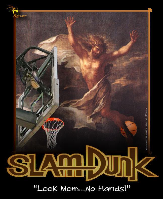 "SLAM DUNK. . Loor: Harness!"" Basketball Sports Slam Dunk ronsart funny motivational"