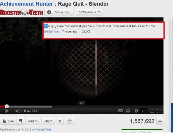 "Slender Man. tags. Hunter ' Rage Quit ' Slender Eu are the lewdest people m imp. 'mu maelu It we easy fer me- mualim a, Jul 19 SEE? Slt "". cr1tikal is best at slender"