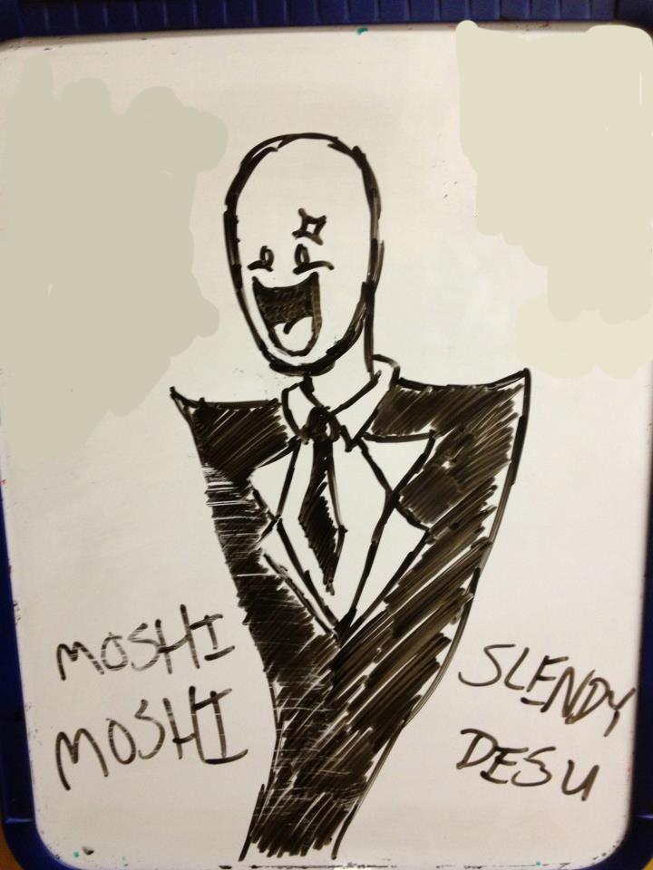 Slendy. Roommate drew this last week. OC... ........ Slenderman