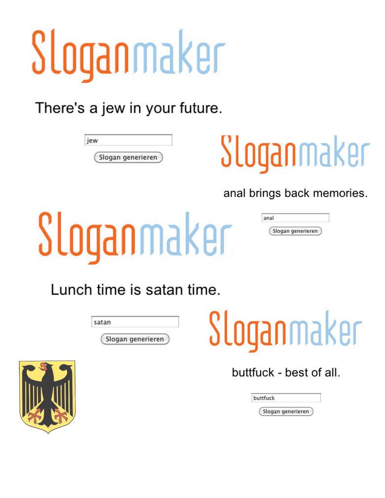 Slogan Maker. sloganmaker.com<br /> OC.. Das ist nicht Lustig. Slogan maker german walrus