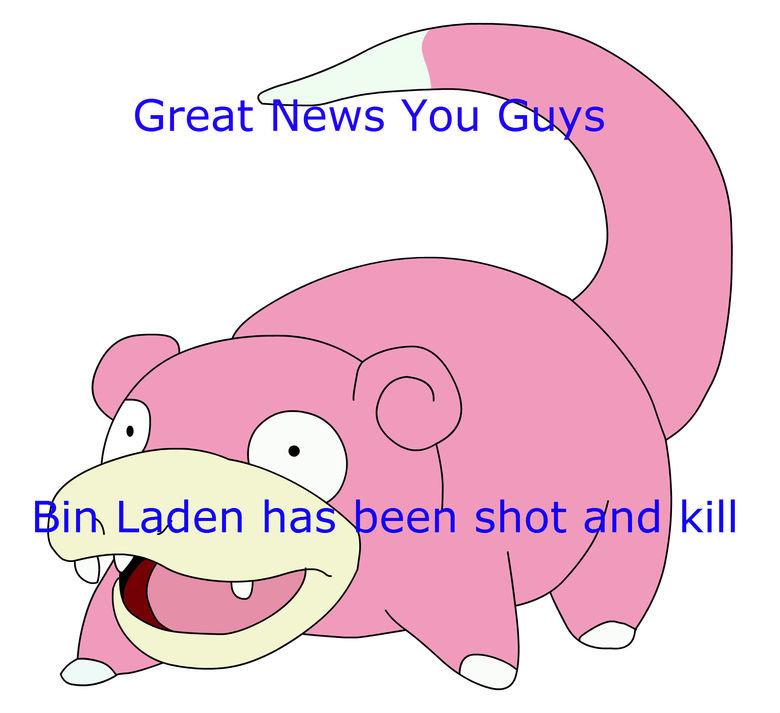 SloooooowPoke. . in Laden ha kill. no.