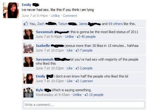 "slut.. omg ahah fail. rib You, am ""taitaa/ art's, : an Mainah June ""mcrgke' hahhaa June Tat 1. 3-: e 'thepeople miho. loserthis June Tat lite ""thepeople Wednesd slut sex hoe whore funny facebook status"
