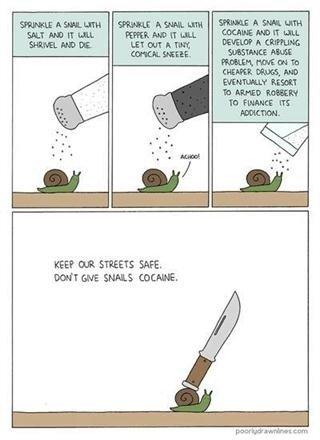 Snails. not oc.. What happens if a snail injects marijuana?