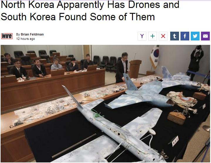 Sneaky Admin. News article: news.yahoo.com/north-korea-apparently-drones-south-korea-found-them-062852067.html. North Korea Apparently Has Drones and South Kore