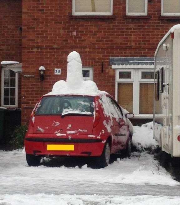 Snow Fun. .. Dickbutt's Car?