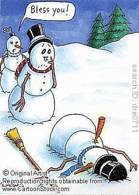 snowman sneeze. .. OH sh...