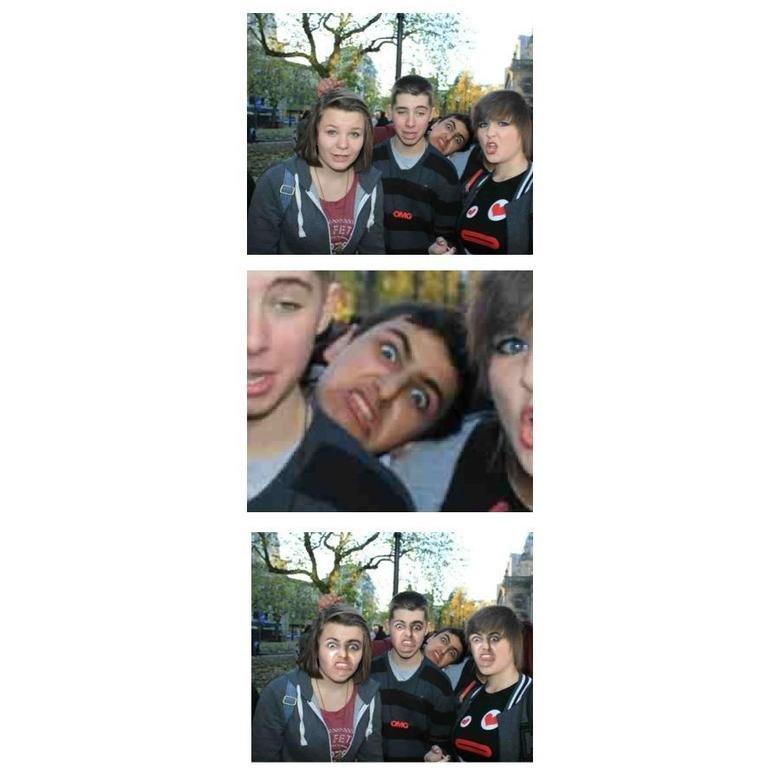 So i heard you like photobombs. so i edited my friends photo bomb he put up on facebook.. no u liar dat sex Face photobomb