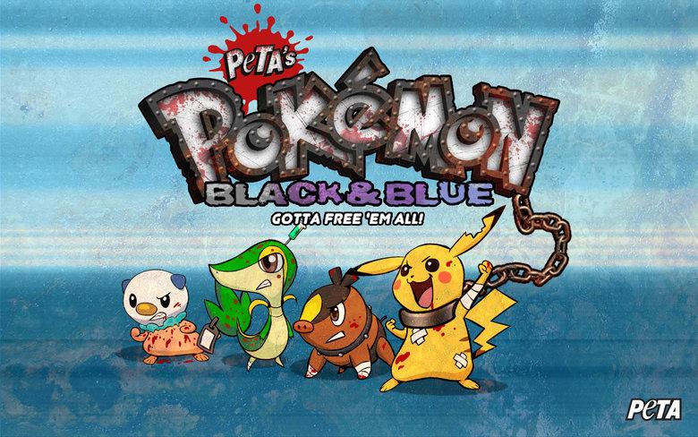 So Peta Made a Pokemon Game... features.peta.org/pokemon-black-and-white-parody/====. Peri. know who should promote this............rihanna peta