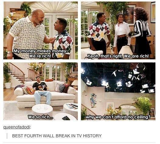 so rich. . MW gore H: h! u Ill BEST ) URTH WALL BREAK IN TV HISTORY