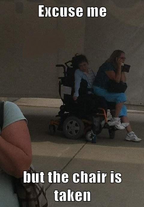 so sad. . hatt the chair Is tallin ASS