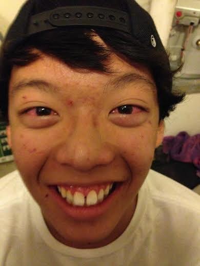 So we got our asian friend high....