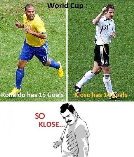 So Klose. made me laugh. Klose