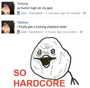 So Hardcore. She is so hardcore. Why can't I be like her. Tatiana so high oh my grad Q Like - Ccomment . . minutes we via mobile - It Tatiana i really got a ele so Hardcore