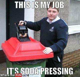 Soda pressing. .