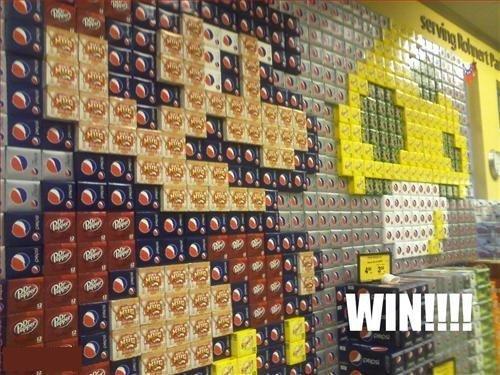 Soda display win!. .. It would suck if someone wanted to buy any of it. SOAD display win Mario mushroom cool lol lolz lolzXD