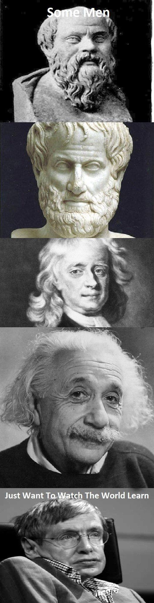 Some Men. 1. Socrates 2. Aristotle 3.Newton 4.Einstein 5.Hawking. The World Learn off the chart Paint skills