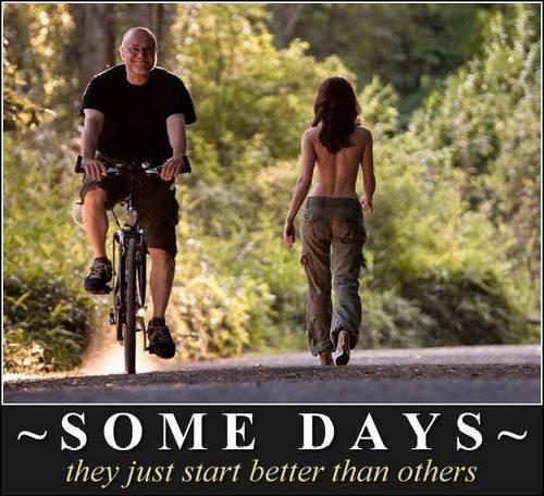 Some days. . adjust (restart better than others. Repost - not complainin :-)