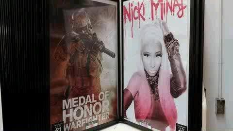 Someone doesn't like Nicki here. .